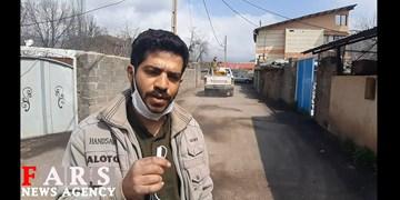 ضدعفونی روستاهای الموت شرقی توسط قرارگاه پیشرفت و آبادانی سپاه