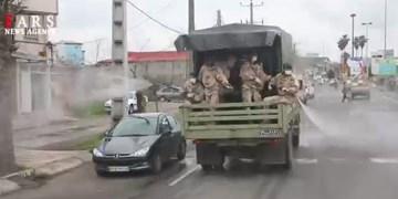 فیلم| رزمایش دفاع بیولوژیک تیپ مخصوص میرزاکوچکخان در آستانه