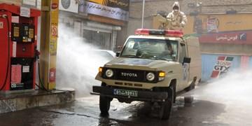 ضد عفونی گسترده معابر توسط سپاه پاسداران