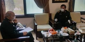 دبیر مجمع تشخیص مصلحت نظام با فرمانده کل سپاه دیدار کرد