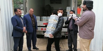 آب منطقه ای کهگیلویه و بویراحمد 10 هزار بطری آب معدنی به قرارگاه «حاج قاسم» اهدا کرد