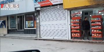 فیلم| مراکز تجاری قزوین بعد از اجرای طرح فاصلهگذاری اجتماعی