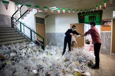آماده سازی بسته های  خوراکی و بهداشتی