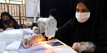 آغاز حرکتی جهادی با رمز «حاج قاسم»/ تولید روزانه ۶۰۰ ماسک در محله رودباریها + فیلم و عکس