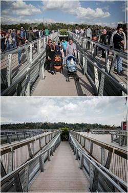 پل طبیعت عکس بالا 13 فروردین 98 و عکس پایین 8 فروردین 99