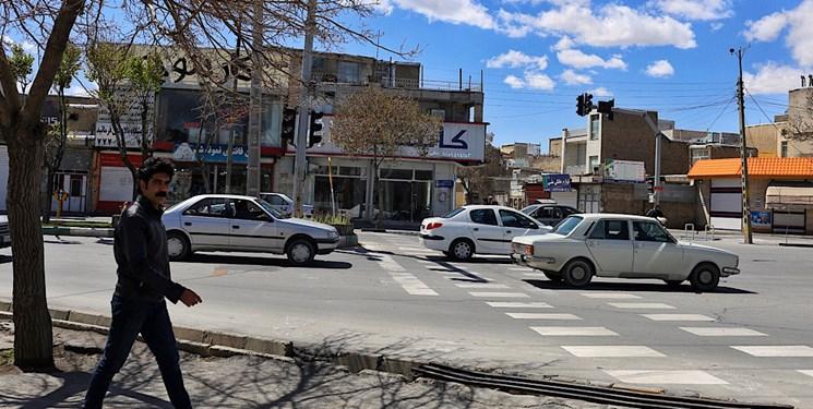 نخستین روز از اجرای طرح محدودیت تردد در شهر اراک