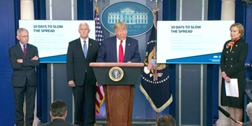 ترامپ: پیک کرونا در دو هفته آینده رخ میدهد