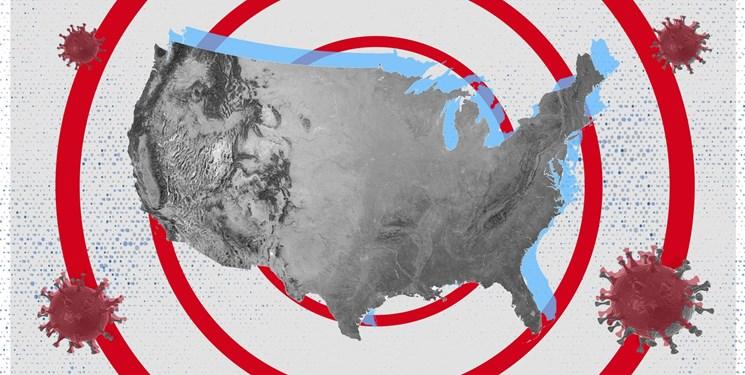 جانز هاپکینز| افزایش مبتلایان آمریکا به ۱۲ میلیون نفر؛ ثبت یک میلیون مبتلای جدید در یک هفته