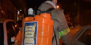 گندزدایی شهر اراک با حضور جهادگران گروه جهادی شهید خسروی