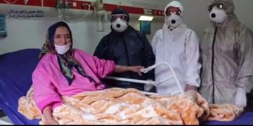 فیلم| ترخیص بیمار ۹۱ ساله کرونایی در بابل
