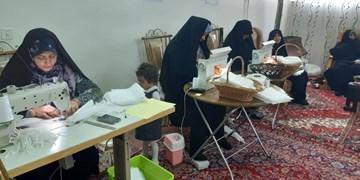 تبدیل منزل سردار شهید به کارگاه تولید ماسک در اراک
