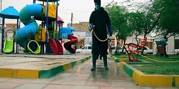 فیلم|حوزه علمیهای که خیابانها را ضدعفونی میکند