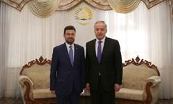 تقدیم رونوشت استوارنامه سفیر جدید فلسطین به وزیر خارجه تاجیکستان