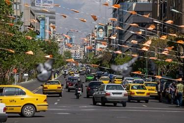 افزایش حجم تردد در پایتخت / شنبه ۱۶ فروردین