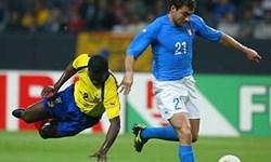 فیلم/دیدار ایتالیا - اکوادور در جام جهانی 2002