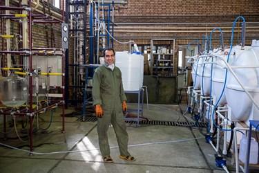 حسین فلاح تکنسین آزمایشگاه عملیات واحد