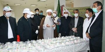 اطعام در بیمارستان اسفراین با غذای متبرک رضوی انجام شد