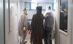 فیلم| برشی از ایستادگی طلاب جهادگر در سنگر غسل متوفیان کرونا