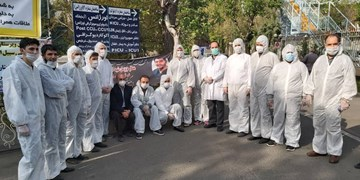 پیشکسوتان فوتبال ایران در کنار بیماران کرونایی+ عکس