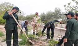کاشت  نهال به یاد شهدای خان طومان مازندران