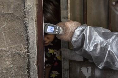 سنجش درجه حرارت  بدن ساکنان منازل کوره های آجر پزی