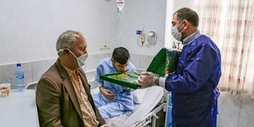 عکس| بوی عطر حرم ثامنالحجج (ع) در بیمارستان بوعلی قزوین