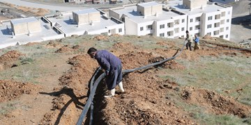 اجرای پروژه لولهگذاری آبیاری ۲۰ هکتار تپه پیرچنار سنندج