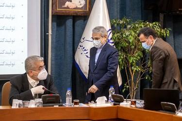ورود محمدباقر نوبخت  رییس سازمان برنامه و بودجه به  نشست کارگروه «جهش تولید»