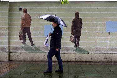 بارش باران در تهران / سهشنبه ۱۹ فروردین