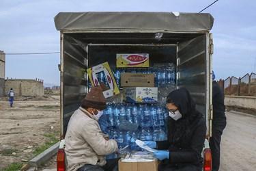 محل بسته بندی مواد ضدعفونی کننده در روستای میامی /مشهد
