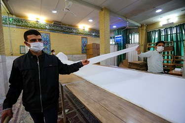 تولید گان بهداشتی در مسجد فاطمیه