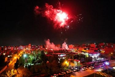 نورافشانی و جشن خیابانی شب نیمه شعبان در اصفهان