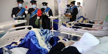 فیلم|توزیع عیدانه نیمه شعبان در بیمارستانهای قم