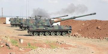 ترکیه چند روستا را در  شمال حلب  به توپ بست