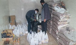 توزیع 650 سبد غذایی میان اقشار کمدرآمد قروه