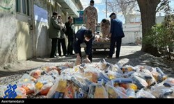 فیلم| توزیع یک هزار و 500 بسته سلامت و مواد غذایی بین مردم جم