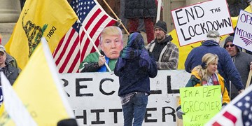 تصاویر | تظاهرات هزاران نفری هواداران ترامپ در اعتراض به قرنطینه