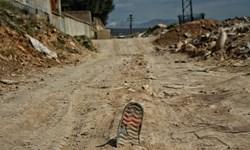 تخلیه نخاله ساختمانی در حاشیه کمربندی شهر ایلام