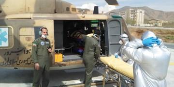 پرواز بالگرد اورژانس برای نجات پسر 3 ساله ملکانی