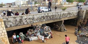 جاری شدن سیل در یمن جان هفت نفر را گرفت