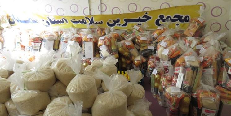 توزیع ۶۰ سبدغذایی بین خانوادههای زیر پوشش مجمع خیرین سلامت