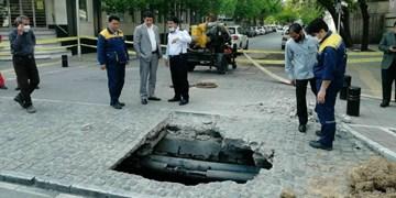 فرونشست زمین در خیابان دانشگاه مشهد
