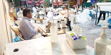 لشکر خوبان| حسینیهای که کارگاه تولید «گان» و ساخت کانکس شد+عکس