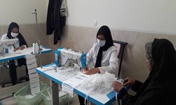خودکفایی بخش گلستان سیرجان در تولید ماسک بهداشتی