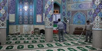غبارروبی مساجد شهرکرد در آستانه ماه رمضان