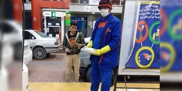 تدبیر منتخب بویراحمد و دنا «کارگاه وحدت» با توزیع ماسک در جایگاههای سوخت