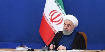 روحانی: افتتاحها پاسخ محکمی به آمریکای جنایتکار است/ جنایات کاخ سفید را محکوم میکنیم