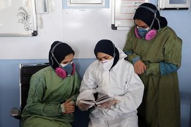 همراهی پرستاران و کادر درمان با پخش جزخوانی قرآن از رادیو