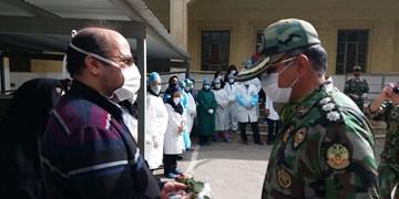 احترام نظامی فرمانده ارتش به مدافعان سلامت شهرضا+تصاویر