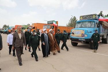 حرکت کاروان کمک مؤمنانه در کرمان